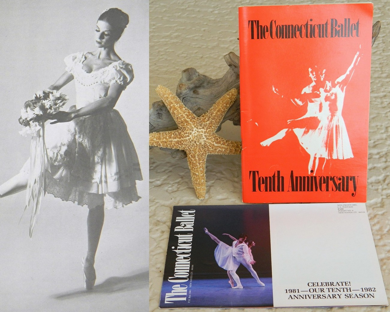 Connecticut ballet 10th tenth anniversary season program 1982