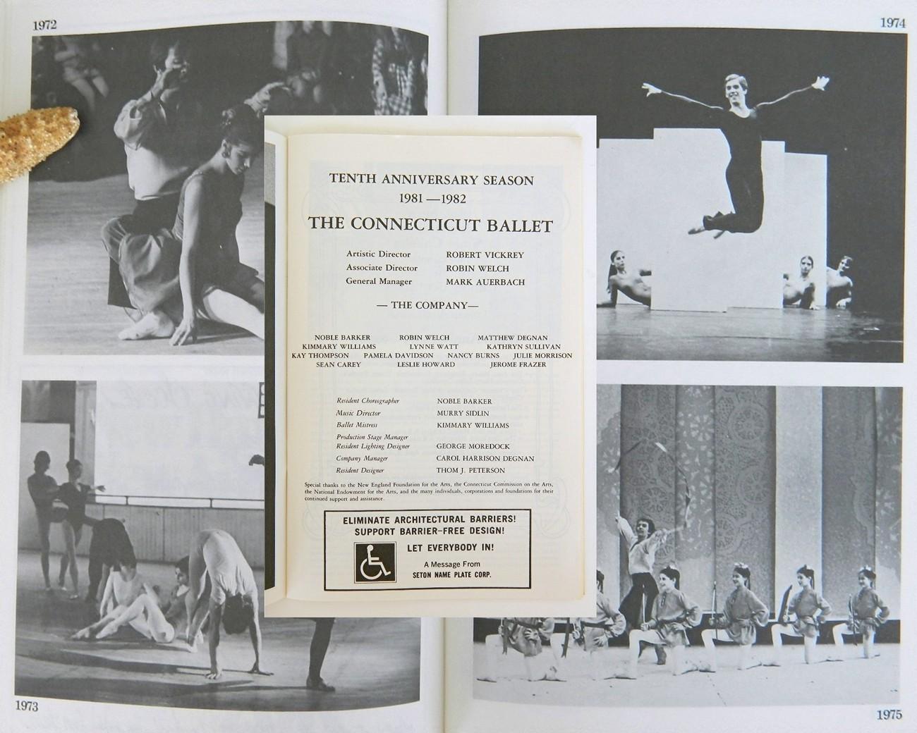 Connecticut Ballet Tenth Anniversary Season Program 1982