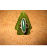 Sterling Silver Ring with a Malachite stone - $55.00