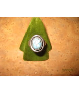 Simple Sterling Silver ring with an uncut agate - $60.00