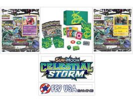 Pokemon Celestial Storm ULTRA BUNDLE Elite Trainer Box + 2 Blisters Sun ... - $74.99