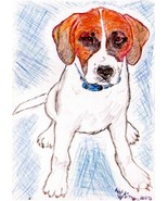 8x10 Custom Pet Dog Puppy Portraits Kat-Renee Kittel - $20.00