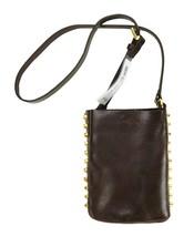 Michael Kors MK Women's Studded Leather Purse Belt Fanny Pack Bag Brown 553359 image 2