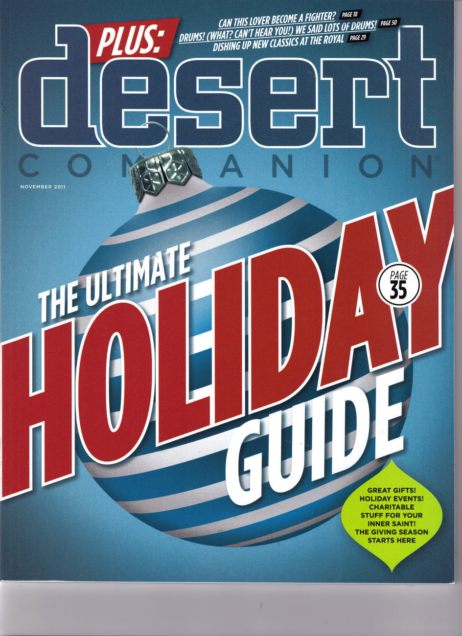 Primary image for  HOLIDAY GUIDE, KURT RASSMUSSEN Drums @ DESERT CompanionLas Vegas Mag NOV 2011