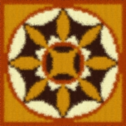 Latch Hook Pattern Chart: READICUT #482 MOSAIC - EMAIL2u