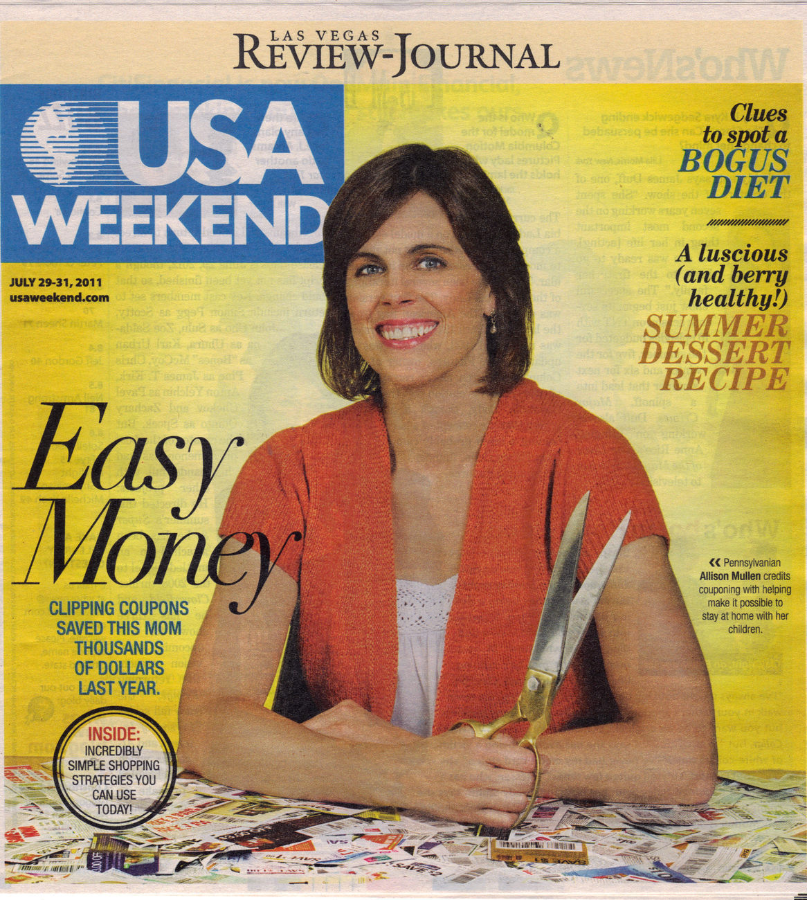 Primary image for ALLISON MULLEN in Easy Money @ USA WEEKEND July 2011