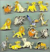 Lion King Full Body UK plastic Rare Disney pins Simba - Nala - Mufasa an... - $7.99+