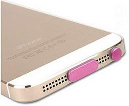 Modern Stylish Data Tail & Headset Dust Plug For iphone5s PINK - $10.76
