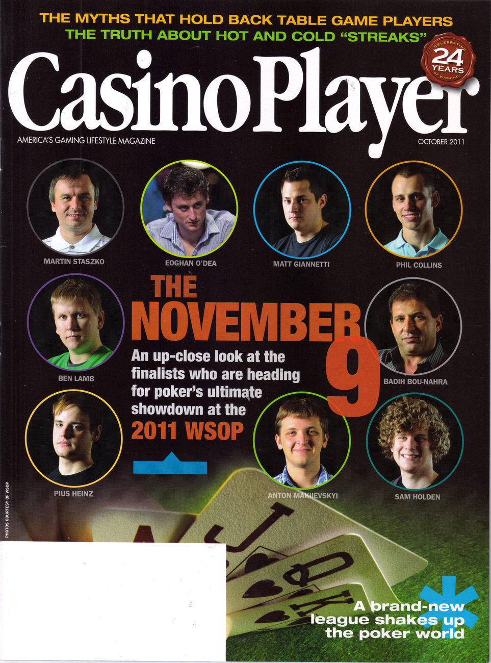 Primary image for THE NOVEMBER 9 2011 WSOP Players @ Casino Player  Mag Oct  2011
