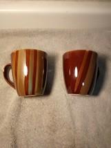(2) Sango Avanti Brown Coffee Mugs 4722-----FREE SHIP--VGC - $19.98