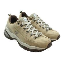 SKECHERS Sport Womens Beige Leather Chunky Sole Retro Walking Shoes Sz 8... - $24.74