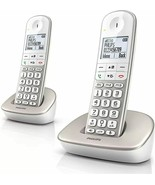Philips Xl4901s/23 2 Phones Fixed Wireless Reduction D Noise 16 H White - $318.09