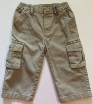 Place Baby Boy Clothes, SZ 6-9 MO, Tan Khaki Cargo Pants - $8.00
