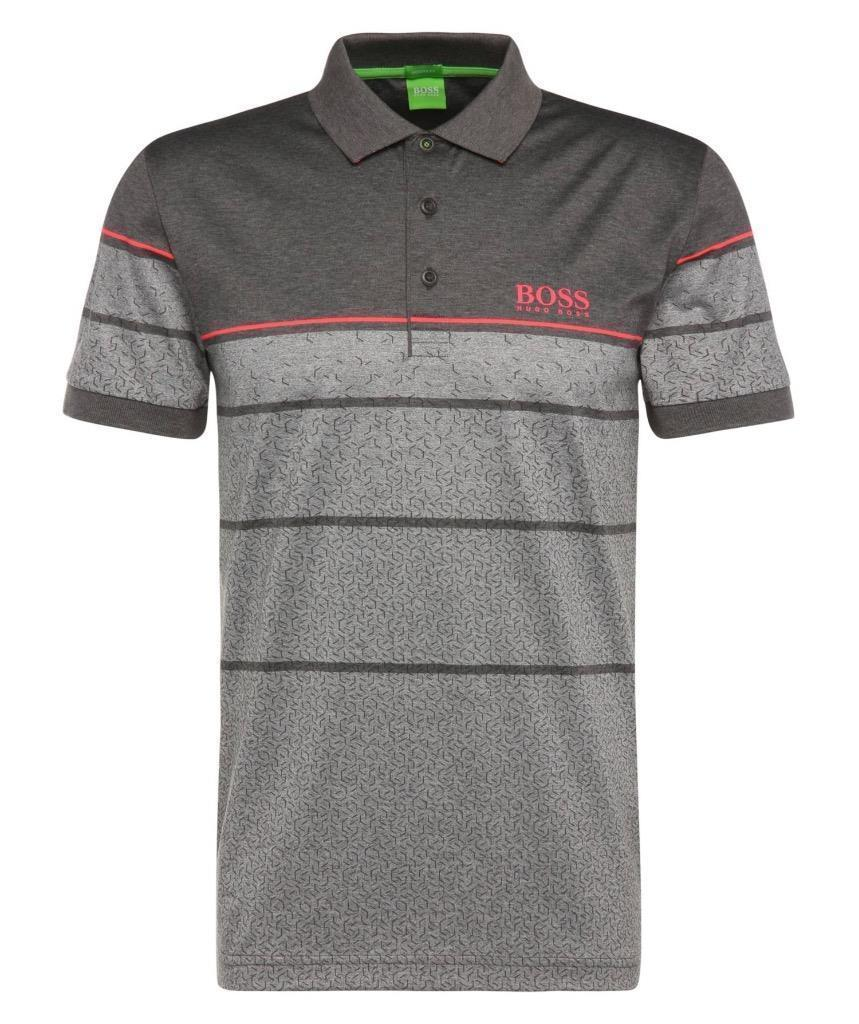 060cff2b HUGO BOSS MEN'S PADDY PRO 2 PREMIUM COTTON POLO SHIRT T-SHIRT GRAY #6390