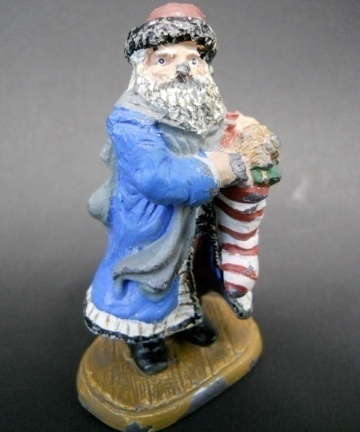 Primary image for Vintage Christmas Decor Classic American Santa 1829 Claus Novelina Metal Figure