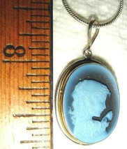 VTG 925 STERLING SILVER CARVED LAYERD ONYX SHELL CAMEO NECKLACE EARRING ... - $367.99
