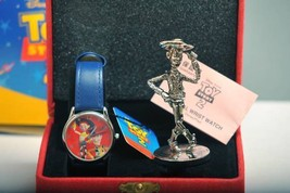 2000 Disney Store Toy Story 2 Quartz Wrist wacth + Woody Metal Figure Pixar - $430.65