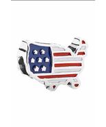 Sterling Silver 925 U.S.A. Flag Charm Bead Fits Pandora Bracelets 1pcs - $6.50