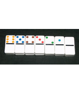 14 NEW Sealed Dominoes Double Twelve Replacement Missing Jumbo Colored T... - $9.85