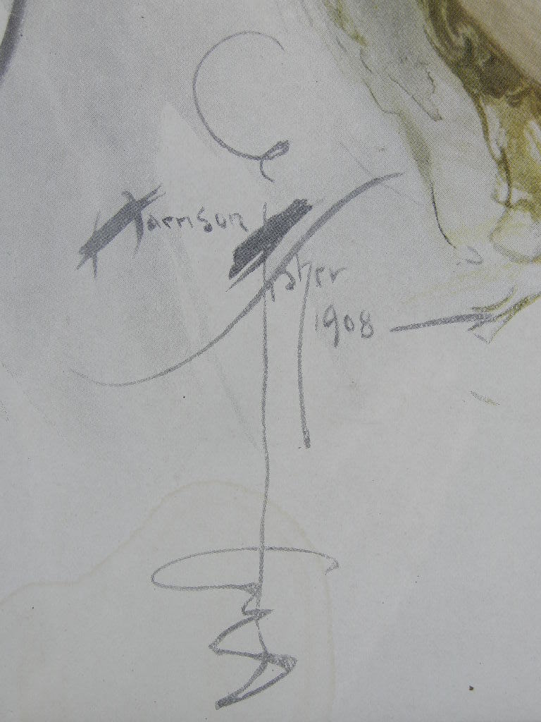 """Old Miniature"" - 11"" X 15"" - Illustration Print by Harrison Fisher (sku#1743)"