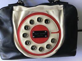 Kate Spade Call Me Chase Retro Telephone Dial Leather Satchel/Handbag Black - $332.17 CAD
