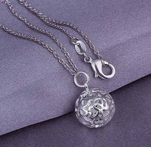 2016 Hot Hollow Ball Set Fashion 925 stamped silver plated Jewelry Necklaces Ear - $11.03