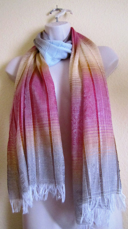 Primary image for NEW HAND-MADE DELICATE SCARF/SHAWL,ECUADOR,TYE DYE,CUTE
