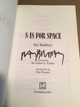 S is For Space by Ray Bradbury. Limited, signed. COA with book. Nice. - $245.00