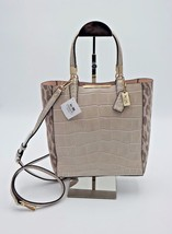 Coach Madison Ocelot Croc Leather Bonded Mini Tote Crossbody Bag New 283... - $228.00