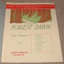 Forest Dawn Sheet Music - John thompson 1936    - $8.95