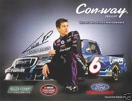 2008 COLIN BRAUN #6 CON-WAY NASCAR CRAFTSMAN TRUCK SERIES POSTCARD SIGNED - $10.75