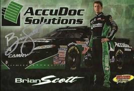 2010 BRIAN SCOTT #11 ACCU DOC SOLUTIONS POSTCARD SIGNED - $10.95