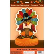 Cute Turkey Thanksgiving Honeycomb Centerpiece 14 inch - $3.99
