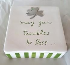Dept 56 Trinket Box Irish Blessing May Your Troubles Be Less Sandra Magsamen - $24.99
