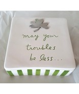 Dept 56 Trinket Box Irish Blessing May Your Troubles Be Less Sandra Mags... - $24.99