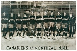 NHL 1924 Montreal Canadiens Team Picture Black & White 8 X 12 Photo Free... - $10.99