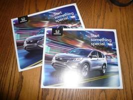 2015 Honda CR-V Odyssey HR-V  Pilot Accord Civic Hybrid Sales Brochure - Two - $9.74