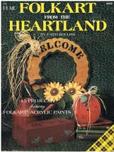 Folk Art from the Heartland Decorative Painting Project Craft Book - $9.95