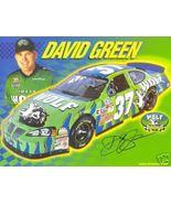 2003 DAVID GREEN #37 TIMBER WOLF NASCAR POSTCARD SIGNED - $11.75