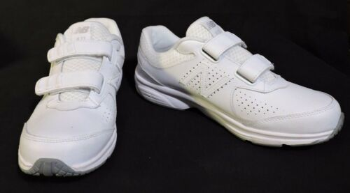 NWOB Mens New Balance 411 sneakers 7.5 D White Leather No Lace Easy ON NEW shoes