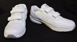 NWOB Mens New Balance 411 sneakers 7.5 D White Leather No Lace Easy ON N... - $32.54