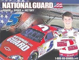 2008 LANDON CASSILL #5 NATIONAL GUARD NASCAR POSTCARD SIGNED - $10.75