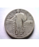 1925 STANDING LIBERTY QUARTER FINE F NICE ORIGINAL COIN BOBS COINS FAST ... - $12.00
