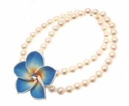 Beaded Bracelets Stretch Bracelets Faux Pearl Bracelets Flower Bracelets... - $12.98