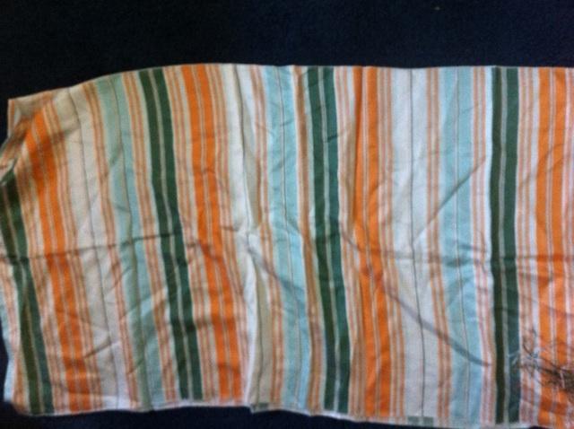 BCBG MAX AZRIA 100% silk scarf pashmina striped fringe large nectar orange NWT!