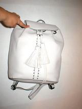 Rebecca Minkoff Moto Leather Handbag Bag Gray Beige New NWT Backpack Womens - $219.20