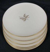 """Set of 6 Wheat by Lenox R-442 6 3/8"""" Bread Plates Made in USA Used Gold ... - $74.25"""