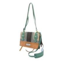 PRADA Etiquette Shoulder Bag Leather Suede Brown Black Gray 1BD093 Authentic