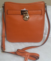 Michael Kors Hamilton Travel Messenger Orange Tangerine Orange Cross Body Nwt  - $99.99