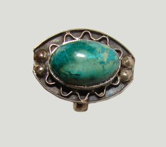VINTAGE STERLING SILVER TURQUOISE MEXICO RING L@@K!! - €59,07 EUR